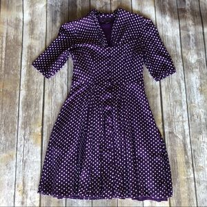 ModCloth Emily and Finn Purple Polka Dot Dress